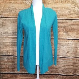 Boden Blue Thin Knit Open Cardigan size 2